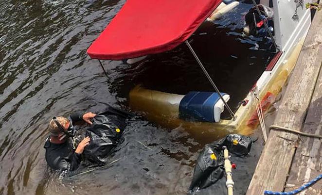 Service bateau coulé