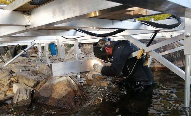 Soudure mobile marine quai